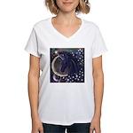 Stellar Unicorn Women's V-Neck T-Shirt