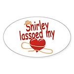 Shirley Lassoed My Heart Sticker (Oval)