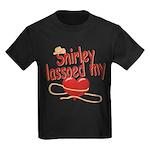Shirley Lassoed My Heart Kids Dark T-Shirt
