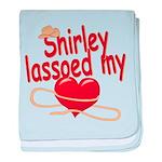 Shirley Lassoed My Heart baby blanket