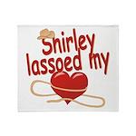 Shirley Lassoed My Heart Throw Blanket