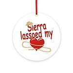 Sierra Lassoed My Heart Ornament (Round)