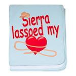 Sierra Lassoed My Heart baby blanket