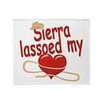Sierra Lassoed My Heart Throw Blanket