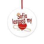 Sofia Lassoed My Heart Ornament (Round)
