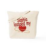 Sophia Lassoed My Heart Tote Bag