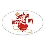 Sophia Lassoed My Heart Sticker (Oval)