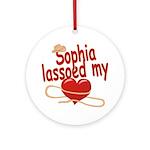 Sophia Lassoed My Heart Ornament (Round)
