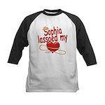 Sophia Lassoed My Heart Kids Baseball Jersey