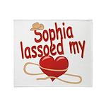 Sophia Lassoed My Heart Throw Blanket