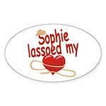 Sophie Lassoed My Heart Sticker (Oval)