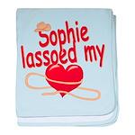 Sophie Lassoed My Heart baby blanket