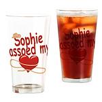 Sophie Lassoed My Heart Drinking Glass