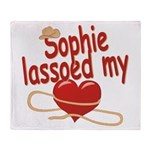 Sophie Lassoed My Heart Throw Blanket