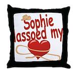 Sophie Lassoed My Heart Throw Pillow