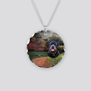 """Why God Made Dogs"" Rottweiler Necklace Circle Cha"