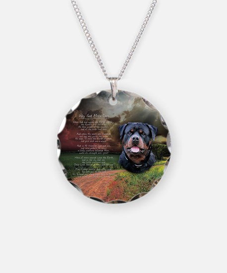 """Why God Made Dogs"" Rottweiler Necklace"