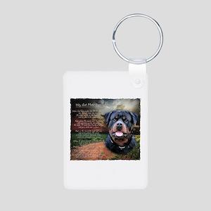 """Why God Made Dogs"" Rottweiler Aluminum Photo Keyc"