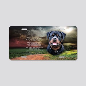 """Why God Made Dogs"" Rottweiler Aluminum License Pl"