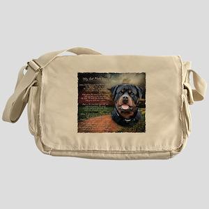 """Why God Made Dogs"" Rottweiler Messenger Bag"