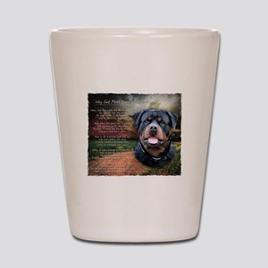 """""""Why God Made Dogs"""" Rottweiler Shot Glass"""