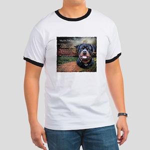 """Why God Made Dogs"" Rottweiler Ringer T"