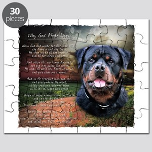 """""""Why God Made Dogs"""" Rottweiler Puzzle"""