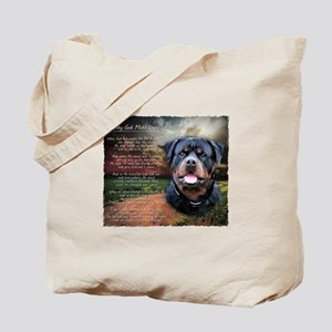 """Why God Made Dogs"" Rottweiler Tote Bag"