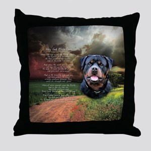 """""""Why God Made Dogs"""" Rottweiler Throw Pillow"""