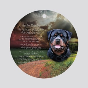 """""""Why God Made Dogs"""" Rottweiler Ornament (Round)"""