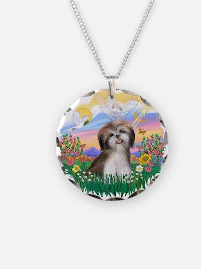 Guardian-ShihTzu#2 Necklace Circle Charm
