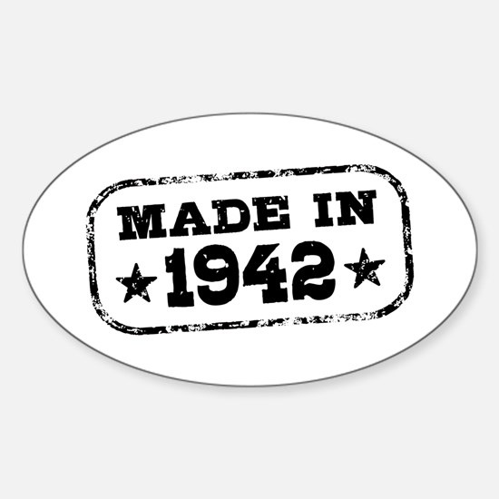 Made In 1942 Sticker (Oval)