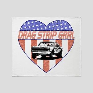 Drag Strip Grrl Throw Blanket