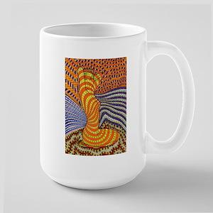 Psychedelic Woman Large Mug