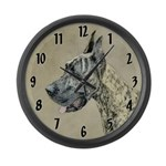 Great Dane (Brindle) Large Wall Clock
