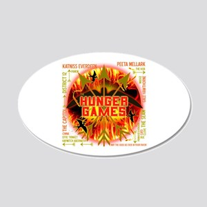 Hunger Games Collective 22x14 Oval Wall Peel