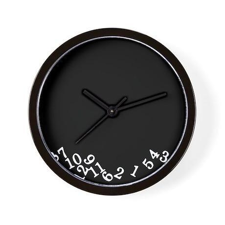 Numbers Fell Black Wall Clock