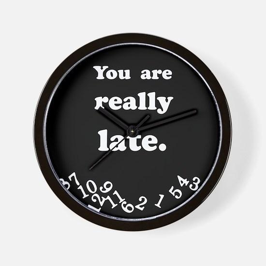 Really Late Black Wall Clock