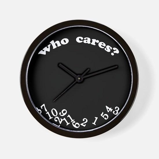 Who Cares Black Wall Clock