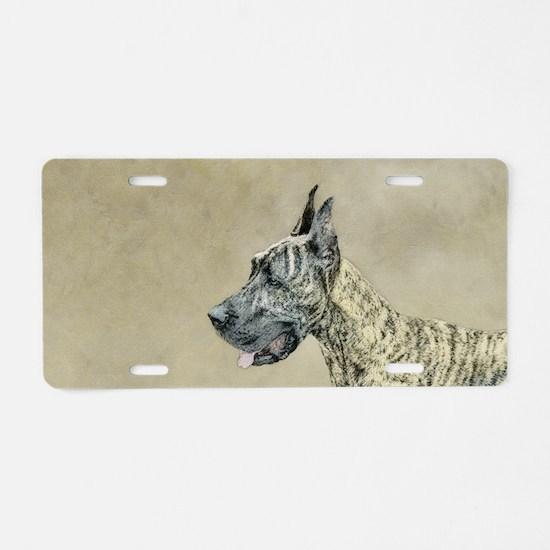 Great Dane (Brindle) Aluminum License Plate