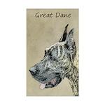 Great Dane (Brindle) Sticker (Rectangle)