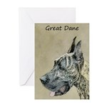 Great Dane (Brindle) Greeting Cards (Pk of 10)