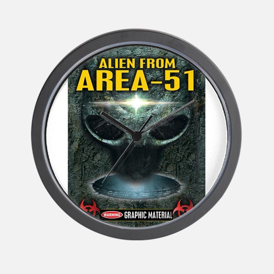 Area-51 Alien Wall Clock