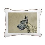 Great Dane (Brindle) Rectangular Canvas Pillow