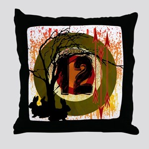 District 12 The Hunt Throw Pillow