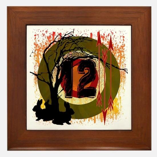 District 12 The Hunt Framed Tile