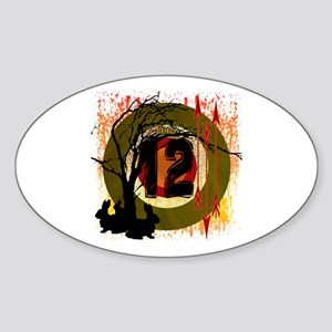 District 12 The Hunt Sticker (Oval)