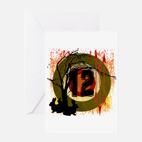 District 12 The Hunt Greeting Card