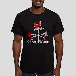 Chanticleer Weather Vane Men's Fitted T-Shirt (dar
