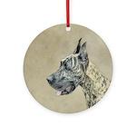 Great Dane (Brindle) Round Ornament